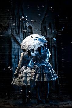 Lolita fantasies by Benjamin Von Wong Estilo Lolita, Steampunk, Visual Kei, Benjamin Von Wong, Cyberpunk, Grunge, Lolita Mode, Gothic Lolita Fashion, Under My Umbrella