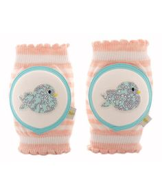 Loving this Turquoise Birdy Kneepads for crawling babies on #zulily! #zulilyfinds