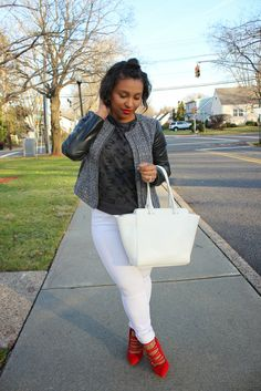 Patty's Kloset -Tweed & Faux Leather #fashion #blogger #ootd