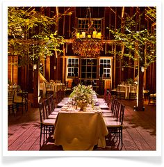 "Love this indoor reception decor. From Laurenconrad.com ""Wedding Bells: 10 Fall Wedding Trends"""