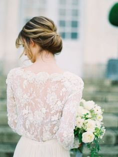 Shouting all the Je t'aime's for this Parisian Wedding Inspiration. – Style Me Pretty Parisian Wedding, European Wedding, Elegant Wedding Hair, Blue Wedding, Ballroom Wedding Dresses, Wedding Photo Inspiration, Bridal Looks, Outfit, Marie