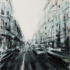Valerio D'Ospina | Rush Hour. Oil on canvas.