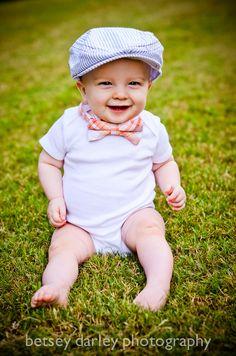 Bow Tie for Newborn Infant Toddler Boy Orange Plaid by stellaEM     #bowtie