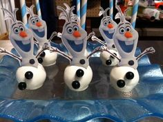 "Olaf ""Frozen"" Cake Pops Olaf Frozen Cake, Frozen Cake Pops, Cake Pop Designs, Holiday Cakes, Desserts, Tailgate Desserts, Deserts, Dessert, Celebration Cakes"