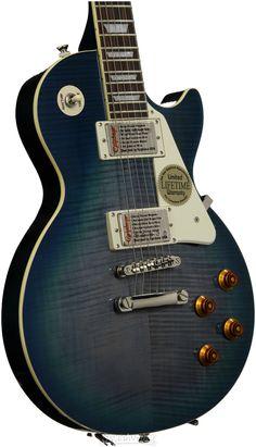 Epiphone Les Paul Standard Plustop PRO (Trans Blue) | Sweetwater.com