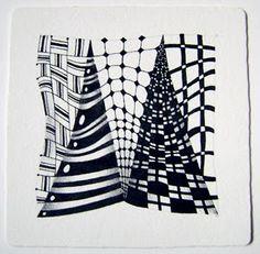 Enthusiastic Artist: Zentangle's new tangle OoF