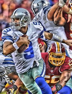 Tony Romo Dallas Cowboys Art Metal Print by Joe Hamilton. All metal prints are professionally printed, packaged, and shipped within 3 - 4 business days and delivered ready-to-hang on your wall. Dallas Cowboys Vs Redskins, Dallas Cowboys Gifts, Dallas Cowboys Pictures, Football Art, Football Helmets, Football Players, Redskins Pictures, Cowboy Artwork, Dallas Cowboys Wallpaper