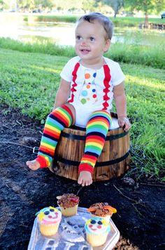 Baby Boy's Clown Costume Rainbow Leg Warmers by Peaceloveandkids
