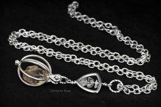 RAW HERKIMER DIAMOND Pendant Necklace by ChristinaRoseJewelry, $41.50