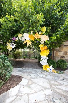 DIY Paper Flower Arch -One Little Minute Blog-10                                                                                                                                                                                 More