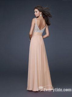 Wholesale Sexy A-line Floor-length  Straps Chiffon Beaded Prom Dress / Evening Dress