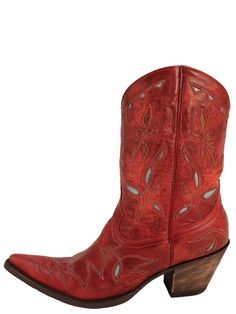 Western Inspired Fashion. Old Gringo Reno Red Picosa Womens Cowboy Boots L068-35 @Boot Star