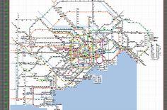 illusrator上の路線図