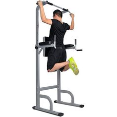 Docheer power tower is made of oblate reinforced steel frame,sturdy base,adjustable height Padded back and arm cushions;slip-resistant foot grips, 4mm thickness for bottom tube of the bar,handles have grips for non-slip workouts Oval Dimension: 30.7