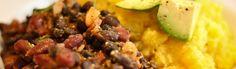 Mexikanische schwarze Bohnen mit Polenta - eat this!