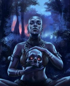 """""""The Shaman""""  Illustrated by >>>>  Jeffrey Oyem  Nubiamancy currently has a crowdfunding campaign with the goal of creating short films based on content posted on our page. Want to support? Click HERE"""