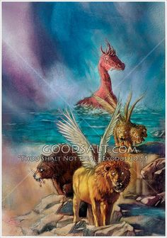 Daniel's vision of the four beasts in Daniel and Revelation