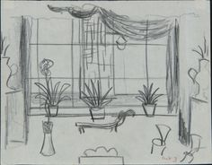 Created by: McCahon, Colin  Title: Stage designs for [The Thieves Carnival, by Jean Anouilh] Act 3.  Date: [ca. 1953]  Location: Hocken Pictorial Collections - 72/107