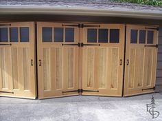 All garage doors used to swing out. Articles about custom swing out carriage house garage doors. Evergreen Carriage Doors builds custom hand crafted authentic antique carriage house doors and carriage garage doors. Swing Out Garage Doors, White Garage Doors, Carriage House Garage Doors, Garage Door Styles, Carport Garage, Wood Garage Doors, Carriage Doors, Garage Door Design, House Doors