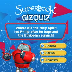 Read Acts 8:39-40 to answer this #GizQuiz!