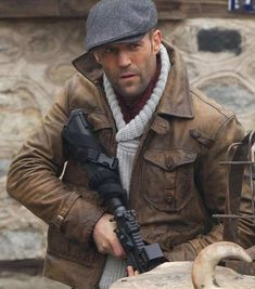 Jason Statham Expendables 2 Leather Jacket