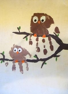 Make Hoot Owls With Your Kids Hands
