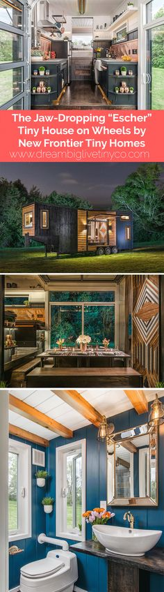 """The Jaw-Dropping """"Escher"""" Tiny House on Wheels by New Frontier Tiny Homes"""