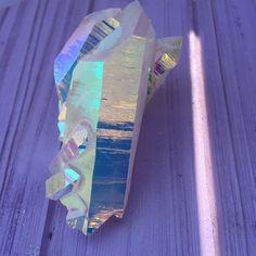 """""""family of five"""" rainbow aura quartz"""