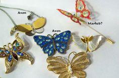 Vintage Butterfly Brooch Jewelry Lot Pearls Rhinestones Enamel | eBay