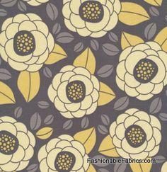 Fabric... Aviary 2 Bloom in Granite by Joel Dewberry
