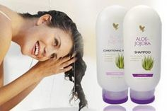 Aloe- Jojoba Shampoo and Conditioner  Create soft, shiny and manageable hair with this pure aloe based formula. Keeps the scalp and hair looking clean and healthy. A mild, long lasting formulation, suitable for all hair types and can help control irritation.   The Conditioner is Pure aloe formula enriched with vitamin B complex to nourish, strengthen and protect the hair. Visit www.global-forever.com