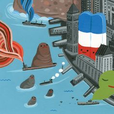 Directory of illustration #26 by Aaron Meshon, via Behance