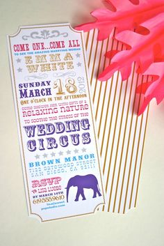"""Cute!!  Photo 5 of 16: Circus Theme / Bridal/Wedding Shower """"Circus Bridal Shower"""" 