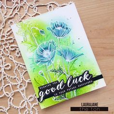 New cue word for #thetonchallenge is Lucky for the month of March @thetonstamps . I did some quick #coloring with #distressink and #zigcleancolorrealbrush using #freshcutpoppiesoutlines #clearstamps #thetonstamps It's day 1 of #thedailymarker30day #cardmaking #handmadecard #cardchallenge