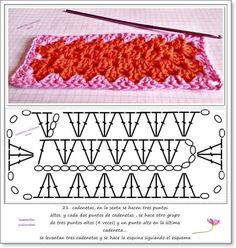 Oval, square, rectangle, circle and more. Crochet for beginners. - a post by Marina (Marina) in the Crochet community in the Crochet category for beginners Crochet Afghans, Crochet Motif Patterns, Crochet Blocks, Granny Square Crochet Pattern, Crochet Diagram, Crochet Chart, Crochet Squares, Crochet Granny, Crochet Stitches