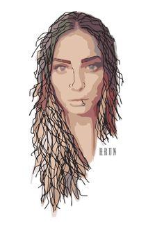 pin #woman #art #grafika #arts #urban #sex #hair #head #shape