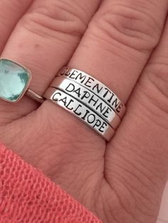 Custom+ring+Sterling+silver+stacking+ring+personalized+++by+smmade