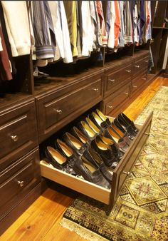 Men's shoe drawer.
