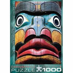 EuroGraphics Totem Pole 1000-Piece Puzzle, Multicolor
