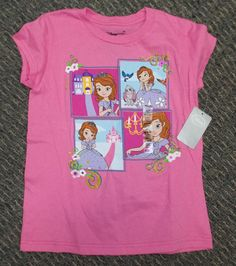Disney Store Sofia The First NWT Short Sleeve Pink T-shirt Size 4 5//6