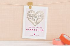 You're A-Maze-Ing Foil Valentine Cards by Adori Designs at minted.com