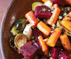 Jewel Roasted Vegetables recipe - makes any holiday table festive and healthy too!