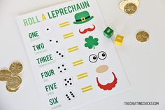 This St. Patrick's Day Printable pack has 17 printables that are sure to provide you with everything you need for a fun and memorable St. Patrick's Day! Leprechaun Games, Roll A Story, Activity Games, Activities, San Patrick, Crafts For Kids, Arts And Crafts, St Patricks Day, As You Like