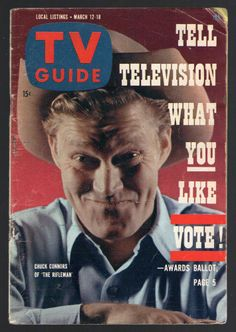 1960 Tv Guide COVER ONLY ~ THE RIFLEMAN ~ CHUCK CONNERS ~ WESTERN SERIES