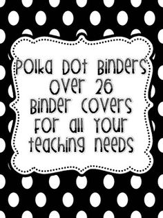 You will find over 26 binder covers. This can also be great dividers inside binders. If you need a certain title, I'd be happy to make one for you....