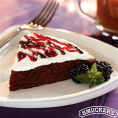Blackberry Brownie Torte from Smucker's® is the perfect Valentine's Day dessert!