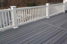 Deck Stain Colors, Deck Colors, Trex Decking Colors, Decking Ideas, Pergola Ideas, Trek Deck, White Deck, Deck Makeover, Design Jardin