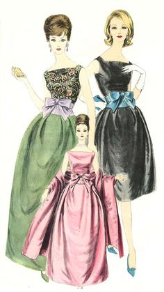 Welcome to So Vintage Patterns : 1960 Glam Formal Evening Gown Pattern Vogue Paris Original 1488 Vintage Sewing Pattern Jacques Heim Ball Gown and Stole Breath Taking Elegance Bust 32 Dress Making Patterns, Vintage Dress Patterns, Vintage Dresses, Vintage Outfits, 1960s Dresses, Vintage Clothing, Prom Dresses, Look Fashion, Retro Fashion