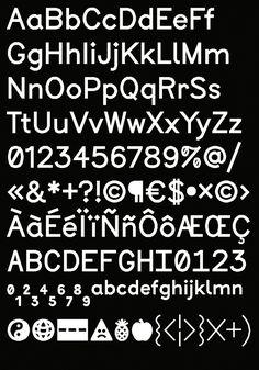 Jeremy Perrodeau, Typography