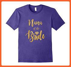 Mens NANA OF THE BRIDE T Shirt Diamond Gold Medium Purple - Wedding shirts (*Partner-Link)